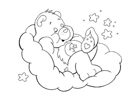 sleeping bear coloring page coloring pages