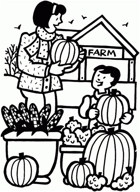 pumpkin farm  printable coloring pages