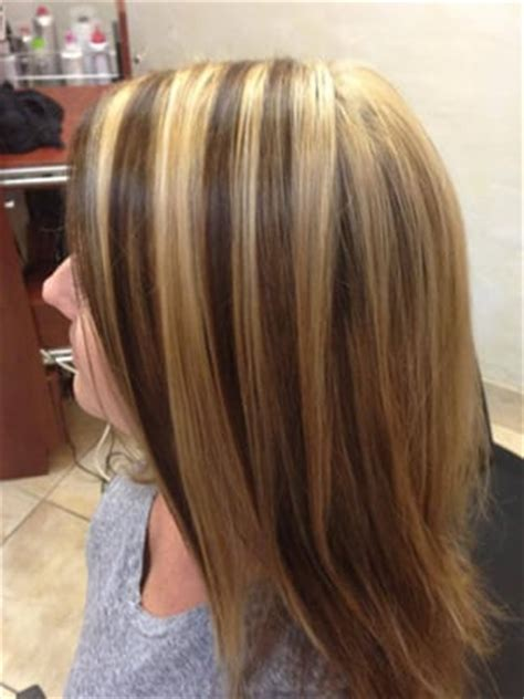 blonde highlights with chocolate lowlights lots of