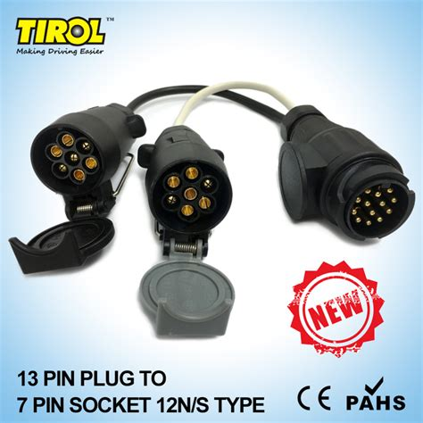 4 pin l socket aliexpress com buy tirol new 13 pin euro plug to 12n 12s