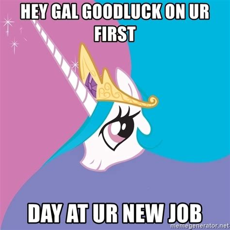 Spongebob Patrick Meme Generator - hey gal goodluck on ur first day at ur new job celestia