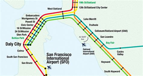 san francisco map with bart bart san francisco map stations