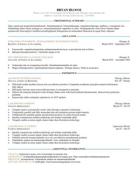 Proffessional Resume Template by Professional Resume Templates Learnhowtoloseweight Net