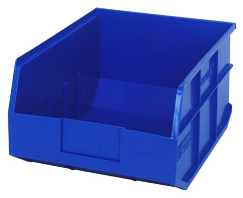 plastic stackable shelf storage bin ssb445 14 quot x 11 quot x