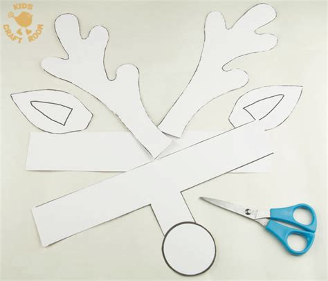 How To Make Deer Antlers Out Of Paper - printable reindeer antlers to colour and wear