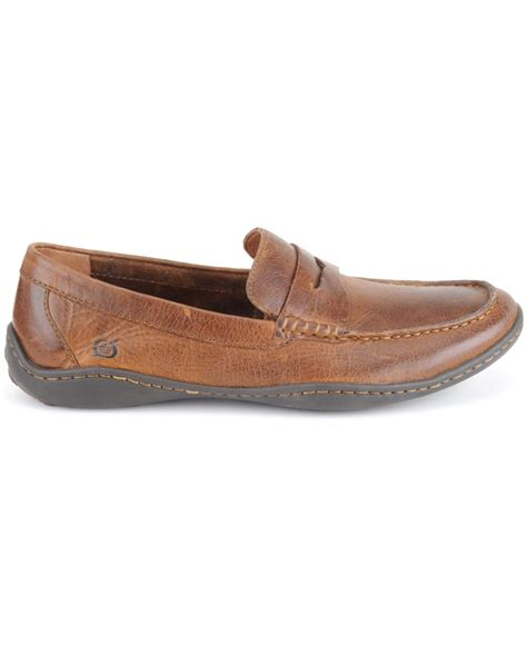 born loafers born simon moc toe loafers in brown for cymbal