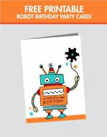 birthday card print a birthday card free free robot birthday card printable