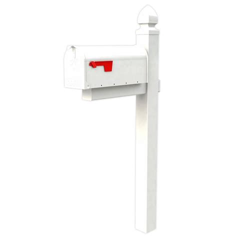 home depot painted post gibraltar mailboxes everton elite white steel mailbox and