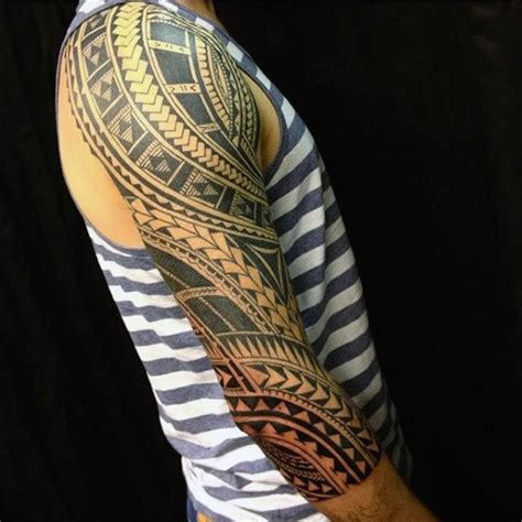 awesome tribal arm tattoos 90 tribal sleeve tattoos for manly arm design ideas