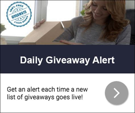 sign up for the daily giveaway alert - Daily Giveaway Alert
