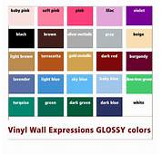 Vinyl Wall Expressions Glossy Colors List For Quotes