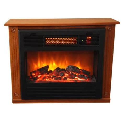 Lifesmart Compact Infrared Heater Fireplace by Lifesmart Classic 1500 Watt Infared Quartz Portable Heater