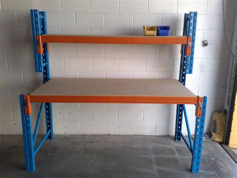 work bench on wheels workbenches long span work benches pallet racking work