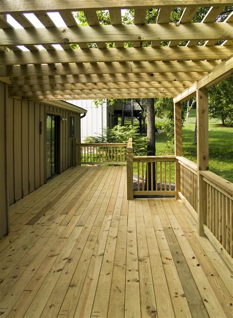 Cedar And Pressure Treated Deck And Pergola Pictures Built Pressure Treated Pergola