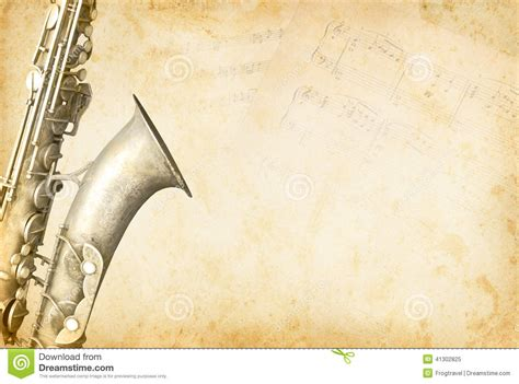 How To Make A Paper Saxophone - concept stock photo image 41302825