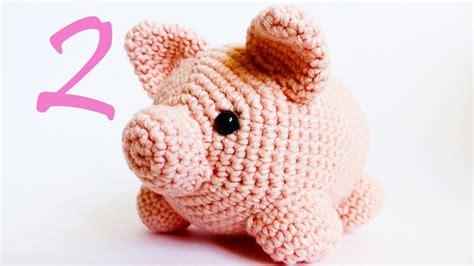 crochet animals  piggy amigurumi tutorial part