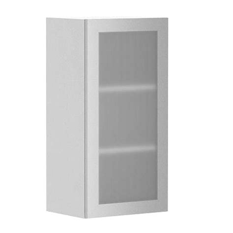 Melamine Kitchen Cabinet Doors Fabritec Ready To Assemble 15x30x12 5 In Copenhagen Wall Cabinet In White Melamine And Glass