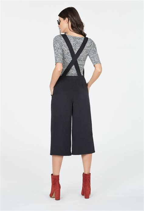 Overall Cullote culotte overall in black get great deals at justfab