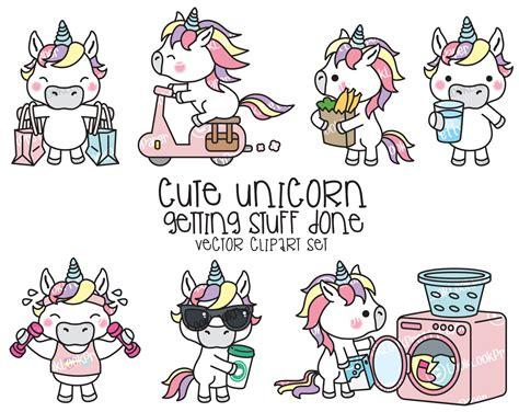 kawaii clipart premium vector clipart kawaii unicorn unicorn