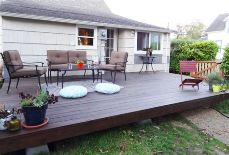 design your own patio create a polished outdoor space for entertaining by building a basic diy platform deck in your