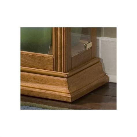 pulaski curios display cabinet in estate oak 21214