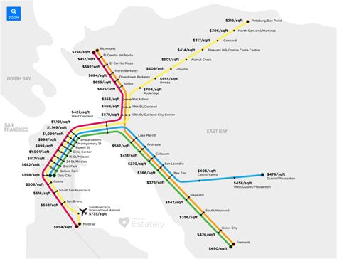Bay Area Bart Map by Bay Area Real Estate Prices Mapped By Bart Station