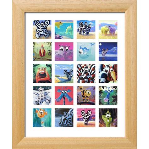 tableaux chambre enfant tableau animaux quot s 233 rie animaux 20 carr 233 s quot d 233 coration