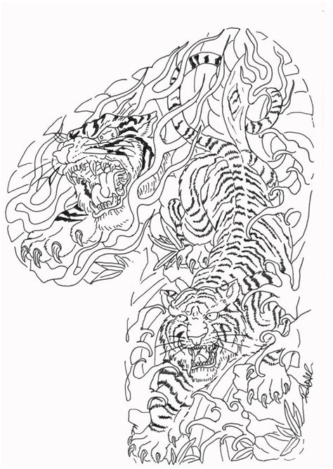 traditional japanese tiger tattoo designs amazing tattoo