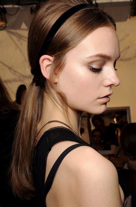 black ribbon accessory hairstyle for a date   Women Hairstyles