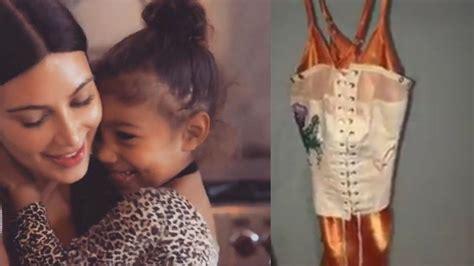 kim kardashian corset dress for north kim kardashian defends north s corset inspired dress youtube