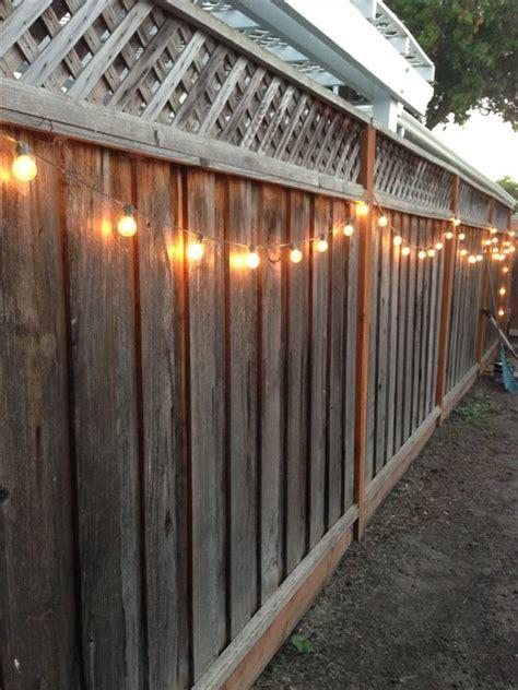 yard string lights diy backyard lighting hang lights on your fence diy