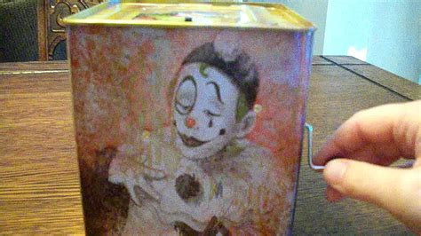 evil creepy scary haunted clown jack   box toy
