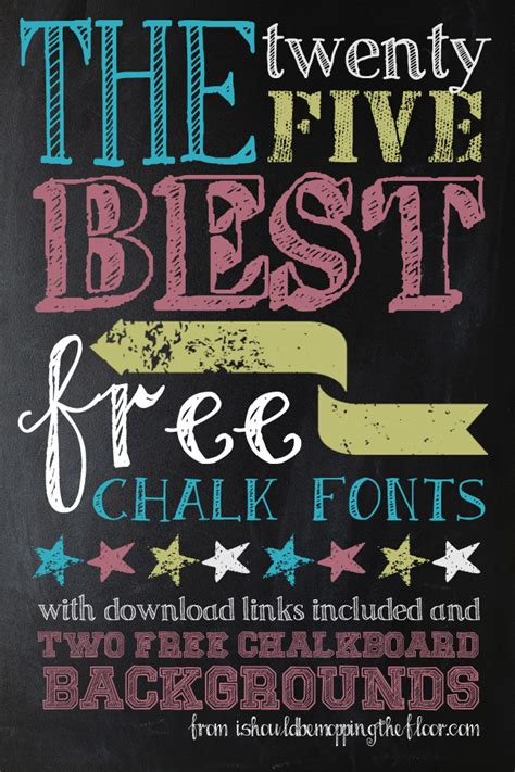 chalk pattern font i should be mopping the floor my 25 favorite free chalk fonts