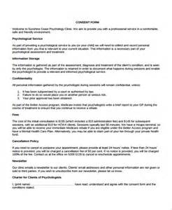 Consent Template by Sle Psychology Consent Form 7 Free Documents