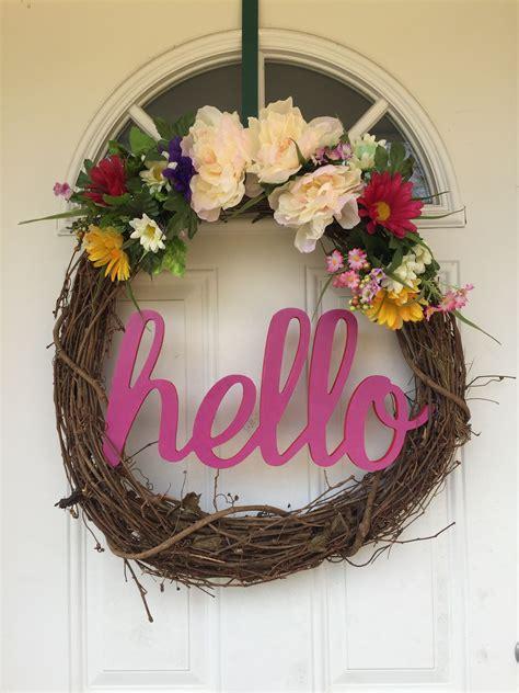 wreath   front door  grapevine wreath