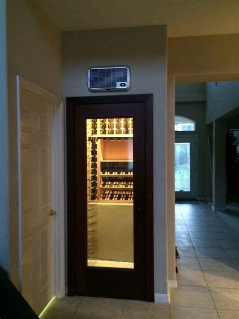 Closet Wine Racks by Wine Closet With Vintageview And Mahogany Wood Wine Racks Modern Wine Cellar New York By