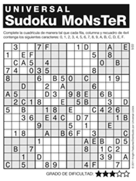 printable monster sudoku 16x16 monster sudoku 16x16 printable andrews mcmeel syndication home