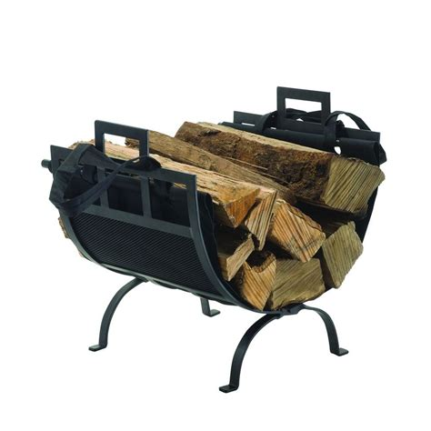 pleasant hearth 22 in decorative firewood rack with