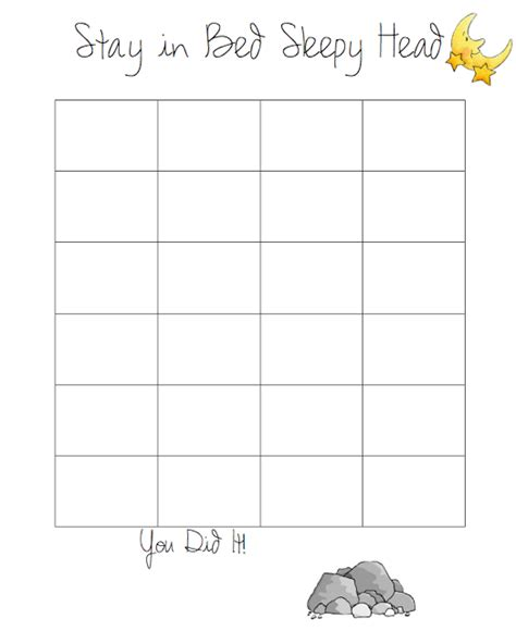 printable reward chart for staying in bed do it yourself divas diy goal sticker chart to help my