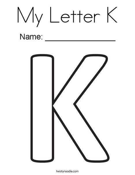 coloring pictures letter k my letter k coloring page twisty noodle
