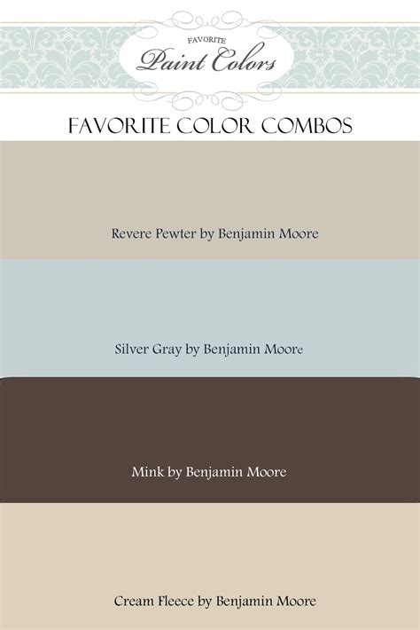 what colors go with revere pewter brown hairs