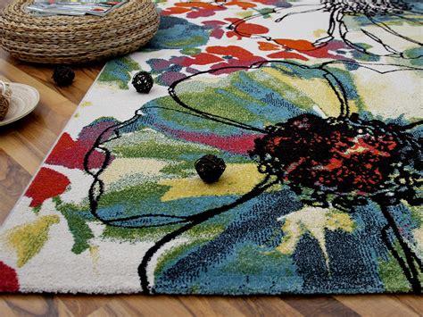 teppich blumen designer teppich arizona blumen bunt abverkauf teppiche