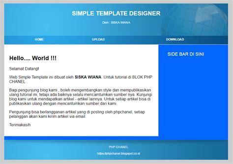 membuat web dengan template gratis cara membuat template website sendiri php chanel tutorials