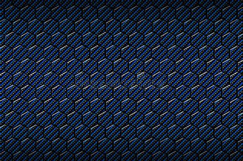 carbon color blue carbon fiber hexagon pattern stock illustration