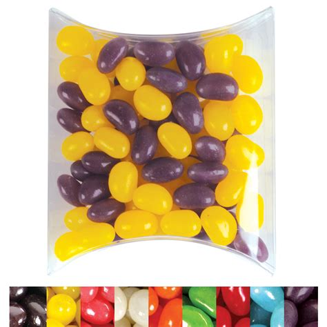 Jelly Mini corporate colour jelly beans in pillow packs printed jelly beans confectionery promotions