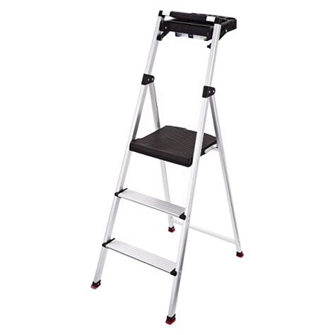 Rubbermaid Steel Step Stool With Project Tray 3 Step by Rubbermaid Lightweight Aluminum Step Stool With Project