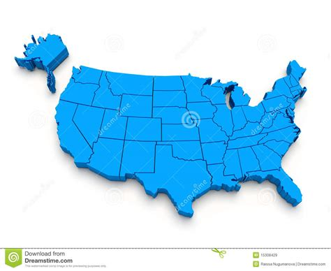 free stock images us map blue map of usa 3d stock illustration illustration of
