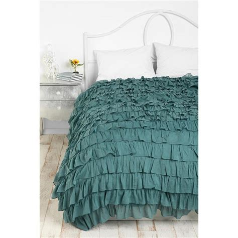 teal ruffle bedding teal waterfall ruffle duvet i want awesomenessssss