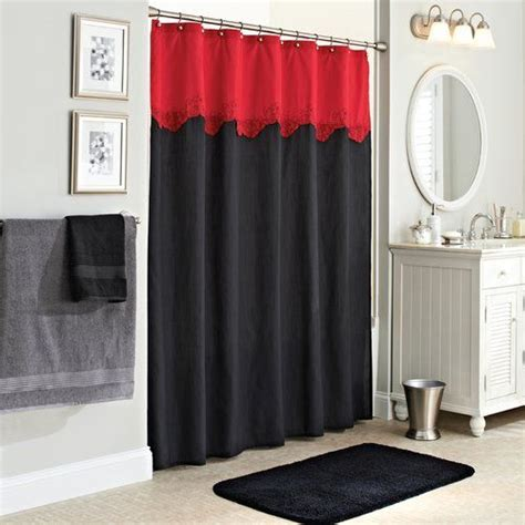 red black shower curtain 25 best ideas about gray shower curtains on pinterest