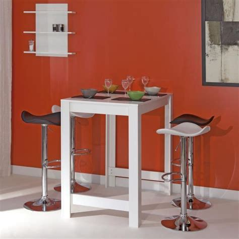 table cuisine 4 personnes curry table bar 4 personnes 70x110 cm blanc mat achat vente mange debout curry table bar